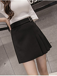 February 15 is expected to ship in Spring 2017 Fashion Belts Sign discounts female half-length A-line skirt