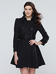 Women's Casual/Daily Vintage / Simple Coat,Solid Shirt Collar Long Sleeve Winter Others