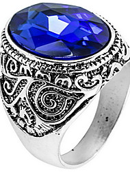 Ring Daily Casual Jewelry Crystal Alloy Ring 1pc,8 9 10 11 Blue