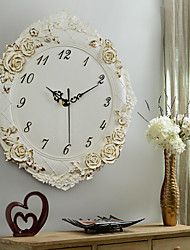 Modern/Contemporary Houses European Creative Decorative Mute Wall ClockNovelty Polyresin Indoor Clock