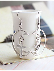 Drop Earrings Earrings Set Jewelry Silver Plated Gold Plated Alloy Cross Moon Jewelry For Daily Casual
