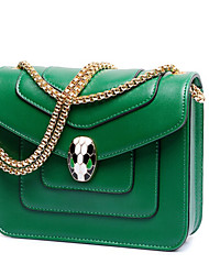 Women Bags Winter PU Shoulder Bag with for Casual Green