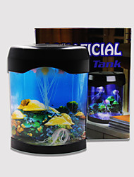 BAOJIE Aquarium Jellyfish Lamp  Neon Lights USB Mini Aquarium