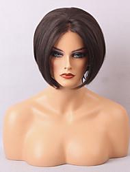 rendas frente perucas baratas para as mulheres negras e brancas peruca curta reta cabelo natural e confortável