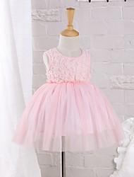 Baby Kleid-Lässig/Alltäglich einfarbig Baumwolle Nylon Sommer Rosa Beige
