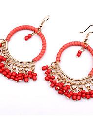 Europe Bohemia beads earrings tassel winding 0409#