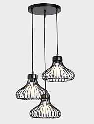 Pendant Light ,  Rustic/Lodge Vintage Retro Painting Feature for Designers Metal Living Room Dining Room Kitchen Study Room/Office Hallway