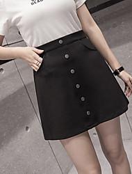 Jupe jupe jupe 2017 nouveau pantalon féminin jupe anti-vider un-breasted A-ligne jupes divisées paquet jupe jupe