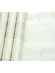 В полоску Деревья / Листья Обои Для дома Современный Облицовка стен , Нетканые бумаги материал Клей требуется обои , Обои для дома