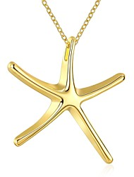Women's Pendant Necklaces Chain Necklaces Jewelry Gold Plated Alloy StarBasic Unique Design Dangling Style Geometric Friendship Rock Cute