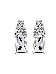 Stud Earrings Crystal Fashion Silver Dark Blue Jewelry Daily Casual 1 pair