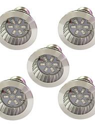 3W E14 GU10 E27 Luci LED per la coltivazione 6 SMD 5730 96-112 lm Rosso Blu V 5 pezzi