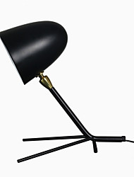 Desk Lamp/Swing Shade/Modern/Contemporary/Painting/110 or 220V/ Black