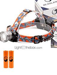 Lampes Frontales 2000 Lumens 3 Mode Cree XM-L T6 18650 Faisceau Ajustable Taille CompacteCamping/Randonnée/Spéléologie Usage quotidien
