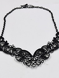 Women's Choker Necklaces Collar Necklace Jewelry Jewelry Gemstone Alloy Fashion Personalized Euramerican Luxury European Black Jewelry For