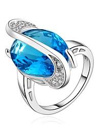 Ringe Besondere Anlässe Alltag Normal Schmuck Krystall Zirkon Kupfer vergoldet Ring 1 Stück,7 8 Bezüge