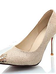 Women's Heels Spring Summer Fall Winter Club Shoes Glitter Customized Materials Wedding Party & Evening Dress Stiletto Heel Metallic toe