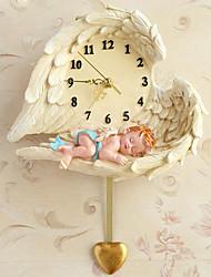 Moderne/Contemporain Niches Horloge murale,Nouveauté Polyrésine Intérieur Horloge