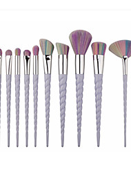 10pcs Contour Brush Makeup Brush Set Blush Brush Eyeshadow Brush Concealer Brush Fan Brush Powder Brush Foundation Brush Synthetic Hair