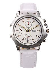 Men's Sport Watch Dress Watch Skeleton Watch Fashion Watch Wrist watch Quartz Genuine Leather Band Charm Casual Multi-Colored