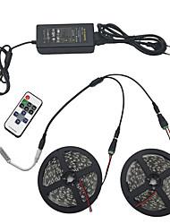 jeu de lumière 10m 5050 600 rgb IP44 11 connecteur d'alimentation 12v 6a clé infrarouge de la télécommande