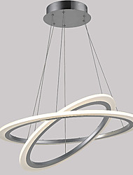 LED Acrylic Pendant Lamps Ceiling Hanging Chandeliers Light Fixtures with 48W 2 ring 6080 CE FCC