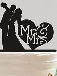 Acrylic Mr & Mrs Heart Cake Topper Non-personalized Acrylic Wedding / Anniversary / Bridal Shower  14.5*14cm