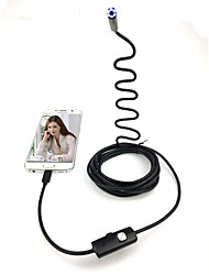 Hard Cable 3.5M standard  Android HD Endoscope camera Borescope Snake 7mm Lens 6 LED IP67 Waterproof Inspection Camera Borescope