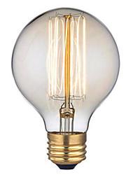 G95 ac 60w e27 personnalité d'art créatif rétro fil droit décoratif ampoule edison de 1pcs