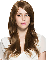 Capless Blonde Brown Curly Wavy Synthetic Fiber Wig Long Women Wig Costume Cosplay Wig