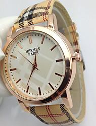 Fashion Watch Quartz Leather Band Casual Gold