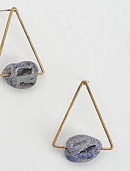 Multi-stone Drop Earrings Jewelry Daily Casual Alloy 1pc Blue