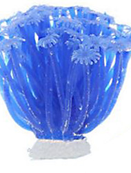 Aquarium Decoration Coral Non-toxic & Tasteless Silicone Green Blue Purple