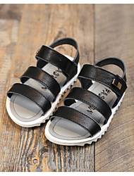 Girl's Flats Comfort PU Outdoor Athletic Casual Black Brown Running