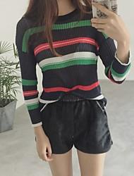знак теплой шерсть полосатого свитера женского хеджирование колледж ветер вокруг шее трикотажных рубашек