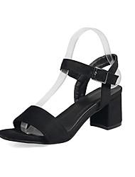 Damen-Sandalen-Kleid-Kunstleder-BlockabsatzSchwarz Grün