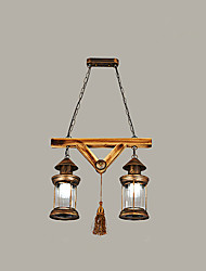 Chandelier ,  Rustic/Lodge Globe Vintage Retro Country Painting Feature for Mini Style Designers Metal Living Room Bedroom Dining Room