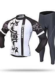 XINTOWN Cycling Jersey with Tights Men's Long Sleeves Bike Tracksuit Zip Top Jersey Pants/Trousers/Overtrousers Tops Bottoms Quick Dry