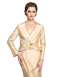 Women's Wrap Coats/Jackets Taffeta Wedding Draped Flower(s)