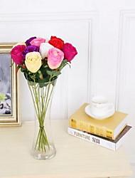1 Ast Kunststoff Rosen Tisch-Blumen Künstliche Blumen 7*7*42