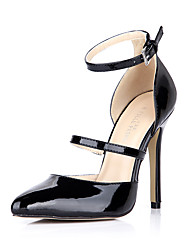 Women's Heels Summer Fall Comfort Patent Leather Wedding Party & Evening Dress Stiletto Heel Black