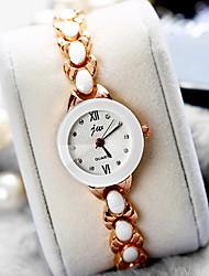 Mulheres Relógio de Moda Quartzo Lega Banda Legal Casual Luxuoso Ouro Rose