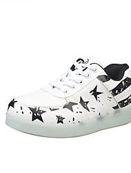 Couples shine shoes han edition leisure sports sandals girls luminous white fluorescent shoes
