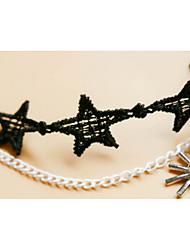 Bracelet de cheville/Bracelet Forme de Coeur Hip-Hop Pierre Hypoallergique Dentelle Noir Aux femmes Bijoux 1pc