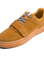 Men's Sneakers Spring Summer Fall Comfort Light Soles Suede Outdoor Casual Flat Heel Lace-up Magic Tape Brown