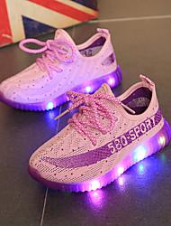 Fille Chaussures d'Athlétisme Chaussures Lumineuses Tulle Printemps Automne Décontracté Lacet Orange Violet Rouge Bleu Moins de 2,5 cm