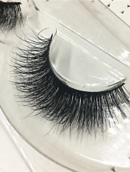 Eyelashes 3D mink Full Strip Lashes Eyes Thick Lifted lashes  Handmade Animal wool eyelash Black Band  M07