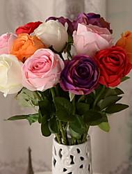 1 Branch Plastic Artificial Rose (Random Color)