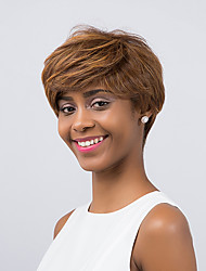 Fashionable  Fluffy Ethereal Mixed Color Short Hair  Synthetic Wig