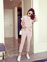 2016 spring new sense of modern design bead cuff + lace pants suit